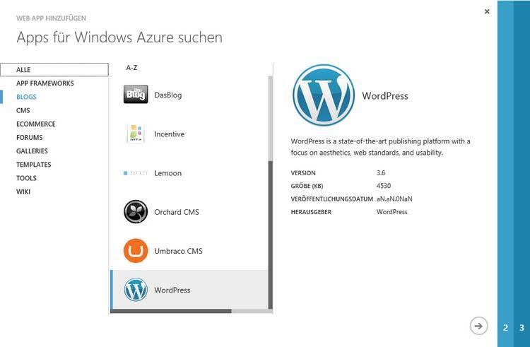 Azure blog selection