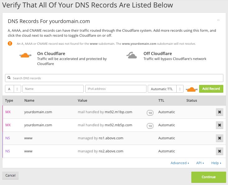 DNS Verification